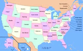 map of state of usa list of american states capitals of us states