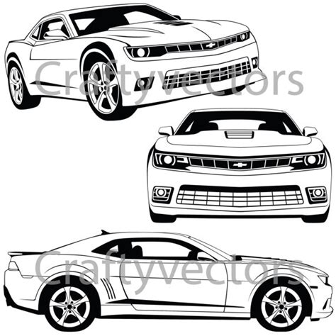 Create Your Own Wall Sticker chevrolet camaro 2015 vector file