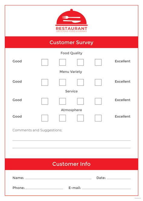 restaurant comment card free templates comment card template 15 free printable sle exle