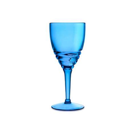 Acrylic Wine Glasses Swirl Acrylic Wine Glasses Blue Set Of 6