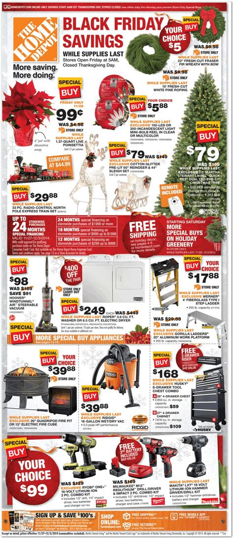 home depot 2014 black friday ad black friday archive