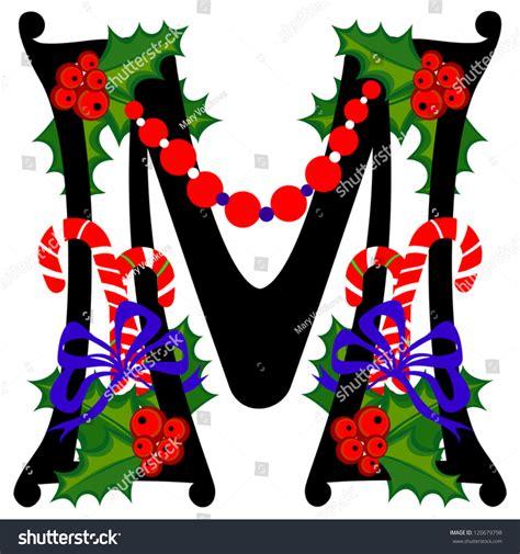 christmas alphabet letter  vector version stock vector  shutterstock