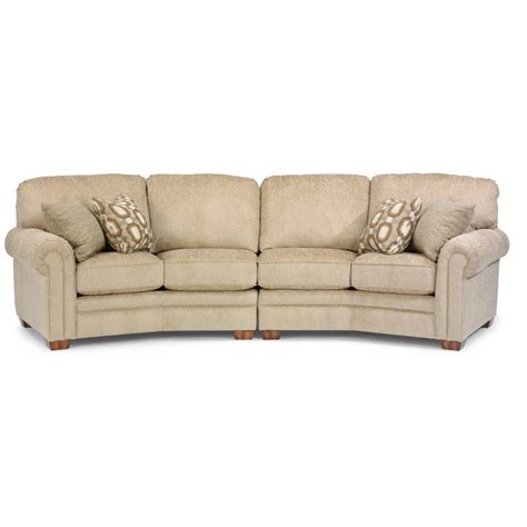 conversation sofas furniture flexsteel 7271 325 harrison fabric conversation sofa
