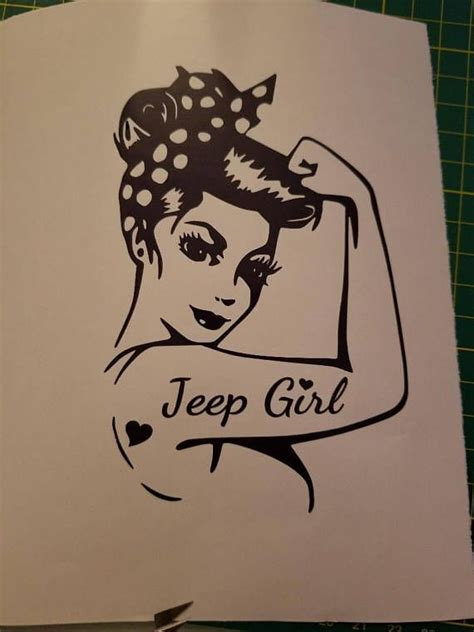 cj tattoo rosie the riveter jeep vinyl decal for your