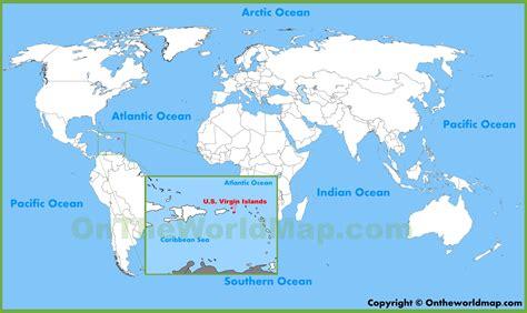 virgin islands location   world map