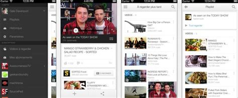 youtube ios layout youtube ios passe en version 2 0 nouveau design