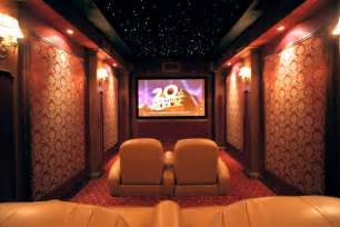 Contemporary home theater with a dazzling starry ceiling contemporary