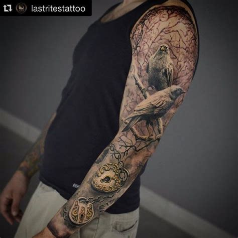 bird arm tattoo bird sleeve sleeves
