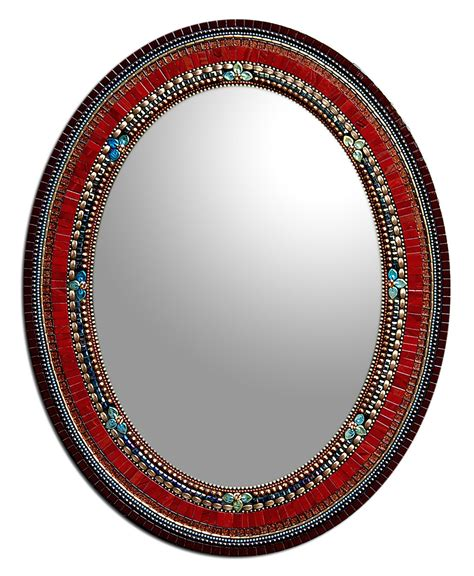 Mirror Mosaic L by Sangria By Angie Heinrich Mosaic Mirror Artful Home
