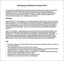 30 second elevator pitch example besttemplates123