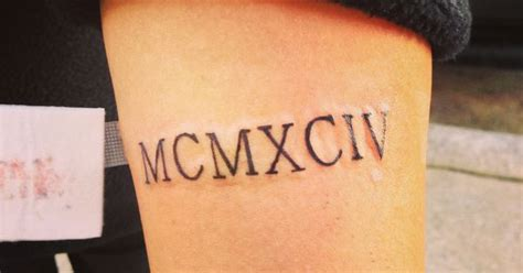 1994 in roman numerals my tattoos pinterest tattoo