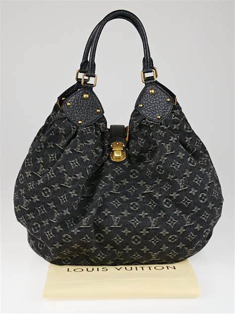 louis vuitton black denim monogram denim xl bag yoogis