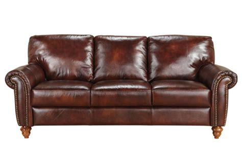 all leather couches baton all leather sofa at gardner white
