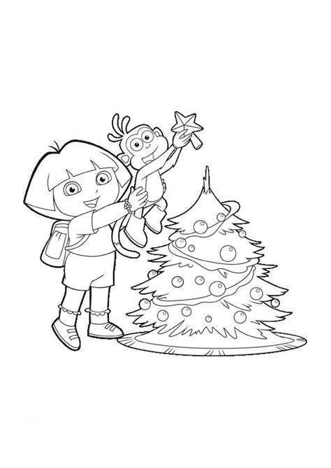 dora blank coloring pages dora christmas coloring pages dora and boots xmas