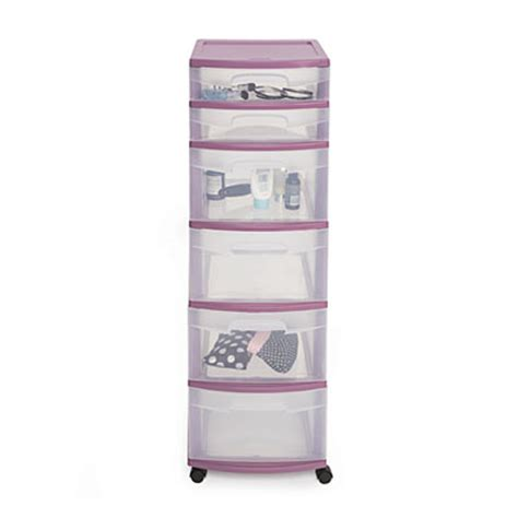view sterilite 174 purple 6 drawer cart deals at big lots