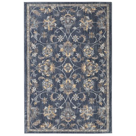 Shop Allen Roth Isburg Denim Rectangular Indoor Machine 10x13 Outdoor Rug