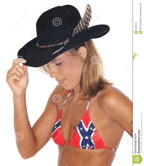 Hot girl bikini cowboy hat video