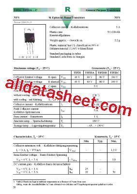 transistor tip31c datasheet tip31c datasheet pdf diotec semiconductor