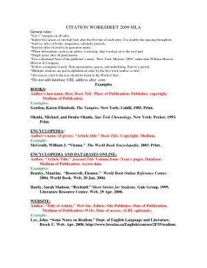 Mla Citation Practice Worksheet by Embedded Quotes Mla Quotesgram