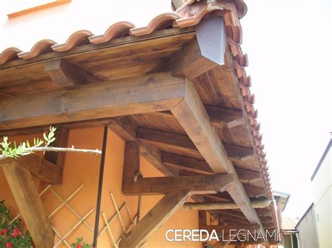 ingressi in legno pensiline ed ingressi in legno cereda legnami agrate brianza