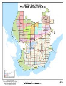 city of cape coral fl proposed utility expansion map for