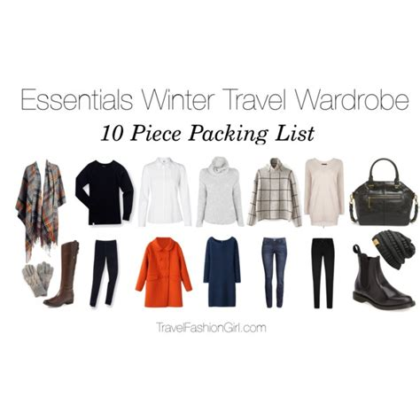 Travel Wardrobe Essentials by Essentials Winter Travel Wardrobe Polyvore