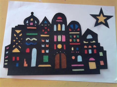 Fensterdeko Weihnachten Stadt by Orientalische Stadt Basteln Mit Kindern