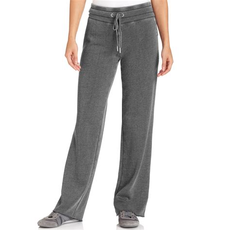 Wide Leg Sweatpants calvin klein wideleg active sweatpants in gray slate