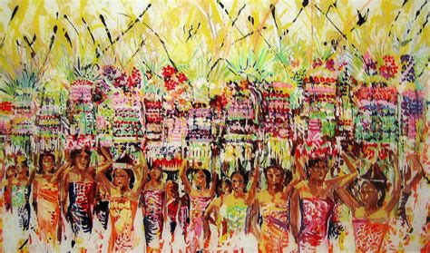 festival painting di bali galungan festival of bali by ferril nawir