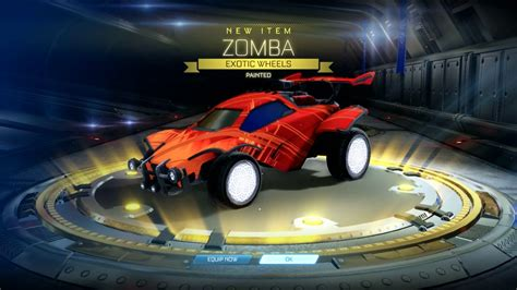 black zombas rocket league painted zomba in a chions crate 4 youtube