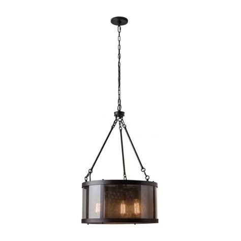 Rustic Ceiling Lights Uk Bronze Ceiling Pendant Light Mesh Shade Rustic Industrial Style