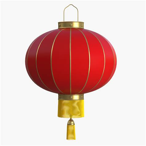 3d Model Chinese Paper Lantern Lights Paper Lantern Lights