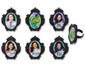 24 descendants cupcake topper rings bling cake