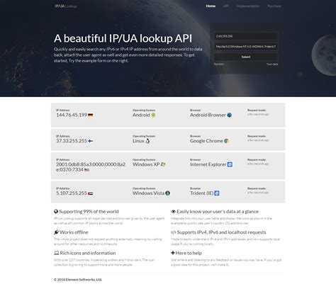 Lookup Tool Ip And User Lookup Api Search Tool By