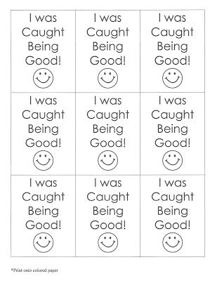 printable caught being good tickets mrs thomson s primary printables my behavior management