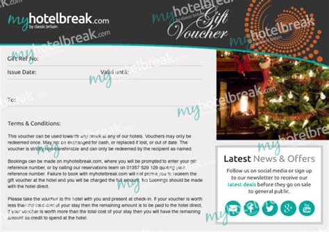 discount vouchers uk hotels lodging gift certificate template choice image
