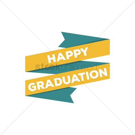 free happy graduation banner vector image 1514787