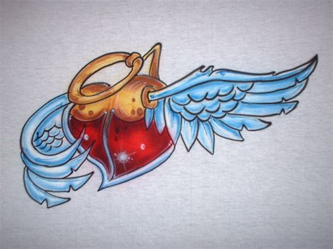 heart with wings tattoo designs with wings designs www imgkid the