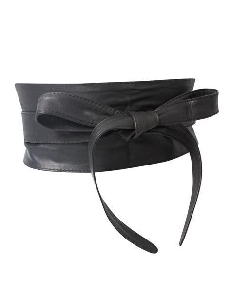 leather obi waist belt style