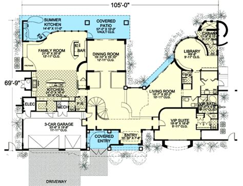 Mega House Plans by Mega Mansion Florida Style 32233aa Architectural