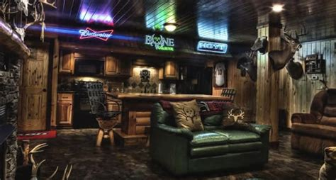 Small Home Bar Designs check out travis quot t bone quot turner s awesome man cave