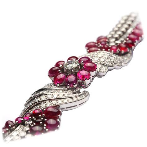 important burmese ruby gold bracelet for sale at
