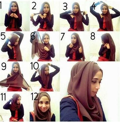 different pattern of hijab how to wear a hijab in style 12 tricks