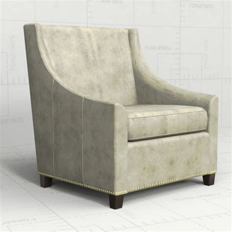 sweep armchair westelm sweep armchair 3d model formfonts 3d models