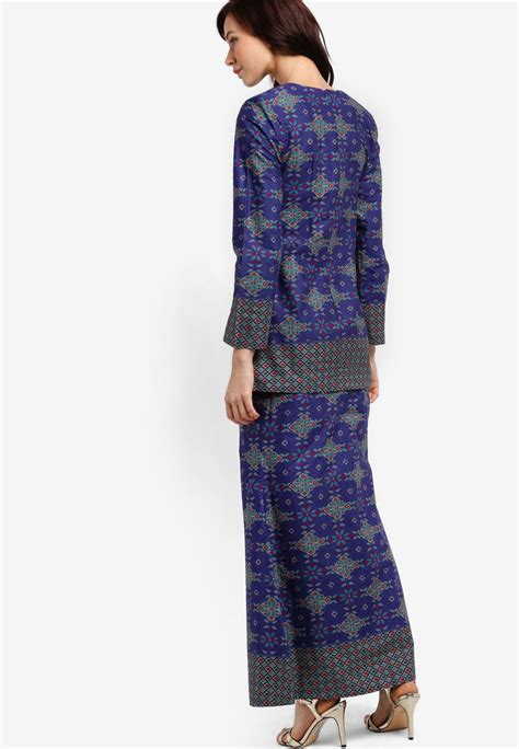 Jumpsuit Monic Baju Wanita Simple baju kurung moden songket printed shopperboard