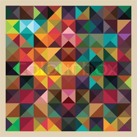 abstract pattern in net colorful triangles modern abstract mosaic design pattern