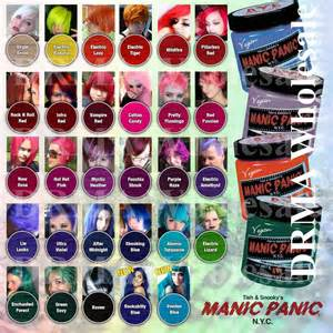manic panic colors on hair manic panic classic semi permanent vegan hair dye color
