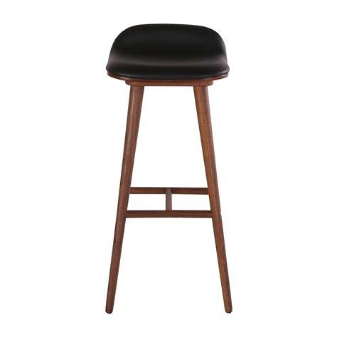 life interiors capa leather bar stool walnut black modern furniture buy  bar stools