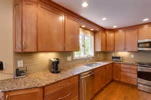 contemporary kitchen remodel maple toffee kitchen