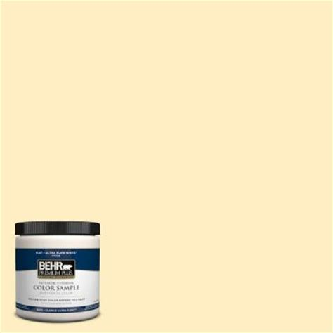 behr premium plus 8 oz 380a 2 moonlit yellow interior exterior paint sle 380a 2pp the